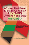 African, Caribbean and Black Canadian HIV/AIDS Awareness Day Poster